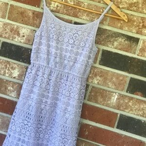 Divided Lilac Lace Dress XS